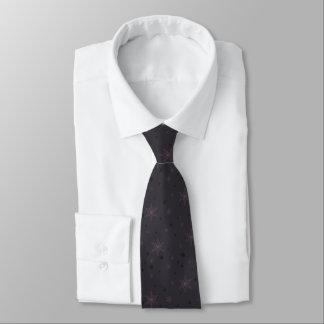 Dunkle lila Schneeflocken Personalisierte Krawatten