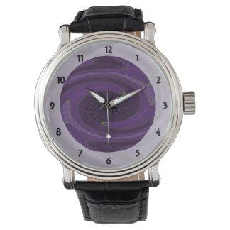dunkle lila schwarze Rotation abstrakt Uhr
