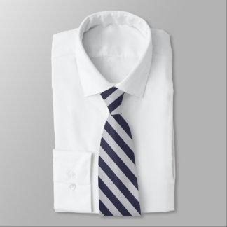 Dunkle Marine und weiße Diagonale Striped Krawatte