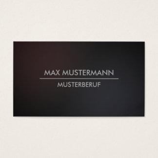 Dunkle minimalistische moderne Visitenkarten
