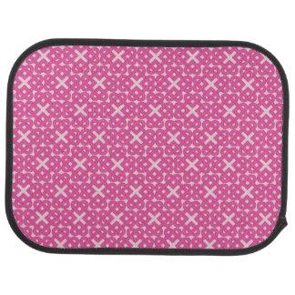 Dunkle rosa keltische Liebe-Knoten Autofußmatte