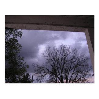 Dunkle stürmische Nacht Postkarte