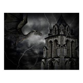Dunkle stürmische Nachtpostkarte Postkarte