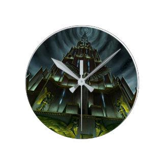 Dunkle Turm-Uhr Runde Wanduhr