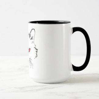 dunkle und rote Wecker-Tasse Tasse