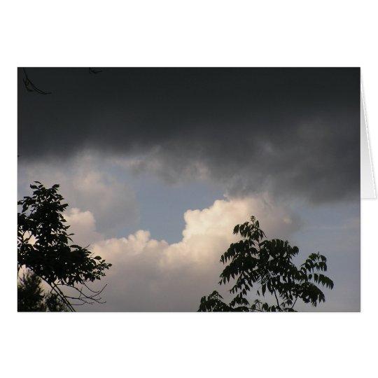 Dunkle Wolken bleiben nicht lang Mitteilungskarte