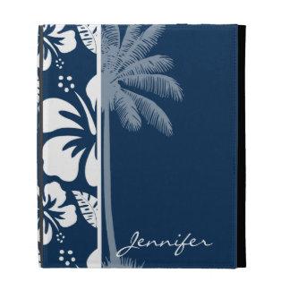 Dunkler blauer tropischer MitternachtsHibiskus Pa