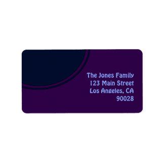 Dunkler lila blauer Modkreis Adressetikett