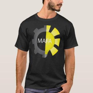 Dunkler MAFA Weißbuchstabe Nietzsche T - Shirt