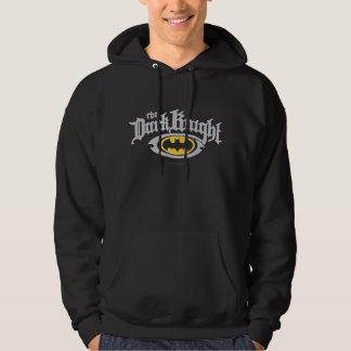 Dunkler Name Batmans Ritter-| und ovales Logo Hoodie