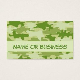 Dunkler olivgrünes Grün-Camouflage-Tarnungs-Name Visitenkarte