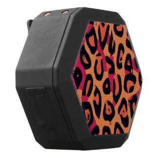 Dunkler rosa gelb-orangeer Cheetah abstrakt Schwarze Bluetooth Lautsprecher