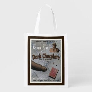 Dunkler Schokoladen-Film Wiederverwendbare Einkaufstasche