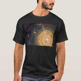 Dunkler T - Shirt, hohe Grenzbesiedlung T-Shirt