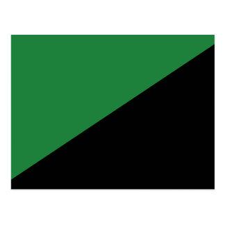 Dunkleres Grünes und schwarz, Kolumbien politisch Postkarten