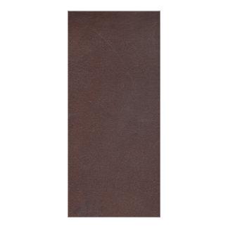 Dunkles Brown-Imitat-Leder Werbekarte