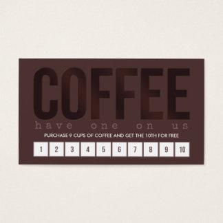 Dunkles Brown-Kaffee-Lochkarte Visitenkarten