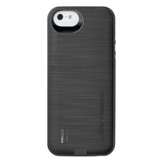 dunkles elegantes perforiertes Metall iPhone SE/5/5s Batterie Hülle
