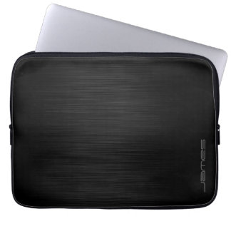 dunkles elegantes perforiertes Metall Laptop Sleeve