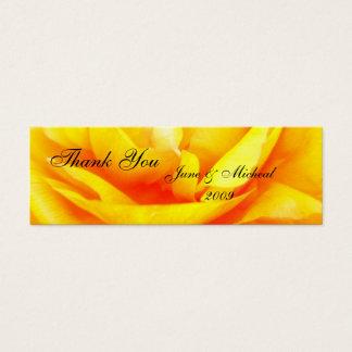 Dunkles Gold Mini Visitenkarte