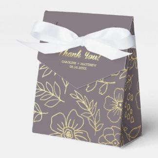 Dunkles GoldblumenGastgeschenk Hochzeits-Kästen Geschenkschachtel