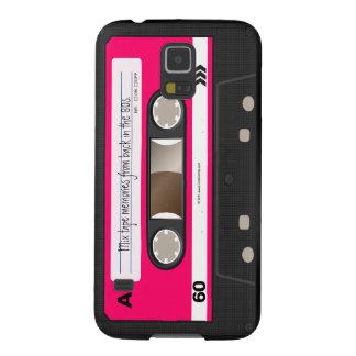 Dunkles heißes Rosa-Retro Kassetten-Band Galaxy S5 Hüllen