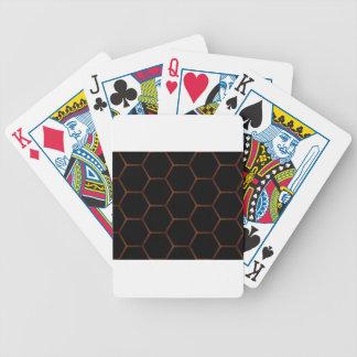 Dunkles Hexagon Poker Karten