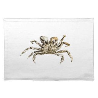 Dunkles Krabben-Foto Stofftischset