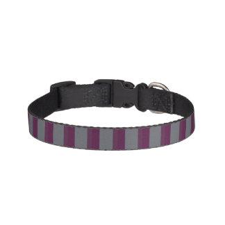 Dunkles lila und graues gestreiftes Hundehalsband