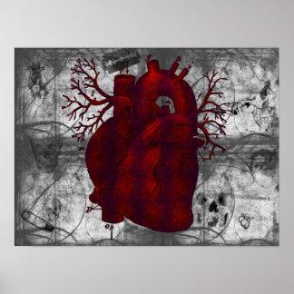 Dunkles menschliches Herz-Plakat Poster