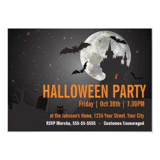 Dunkles NachtHalloween-Party 12,7 X 17,8 Cm Einladungskarte