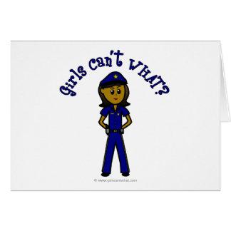 Dunkles Polizeibeamte-Mädchen Karte