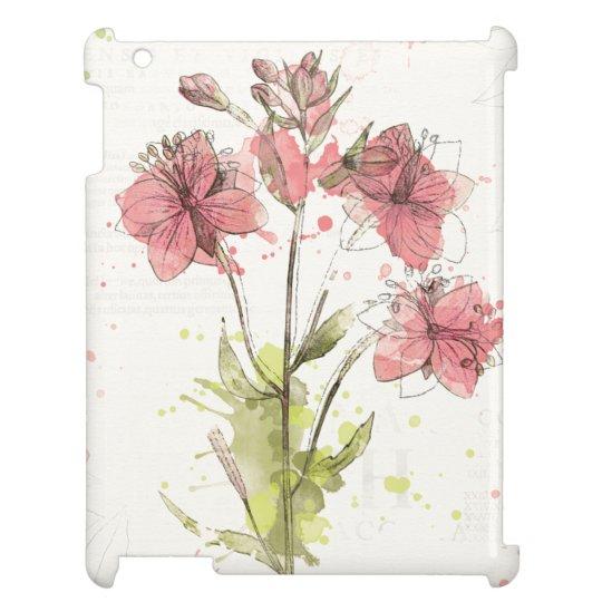 Dunkles rosa mit Blumenspritzen iPad Schale
