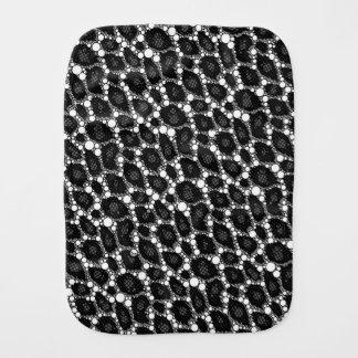 Dunkles Schwarz-Gepard Baby Spucktuch