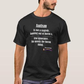 dunkles vorderes Logo der Autismusspeck-Tragödie T-Shirt