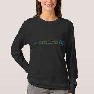 Dunkles Waterdrops langes Hülsen-T-Stück T-Shirt