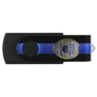 Dünne blaue Linie Abzeichen Swivel USB Stick 2.0
