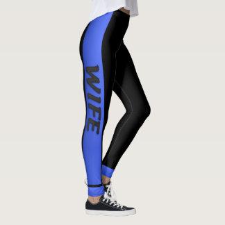 Dünne blaue Linie - dünne blaue Ehefrau Leggings