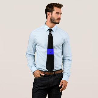 Dünne blaue Linie Kleeblatt-Knöpfe Krawatten