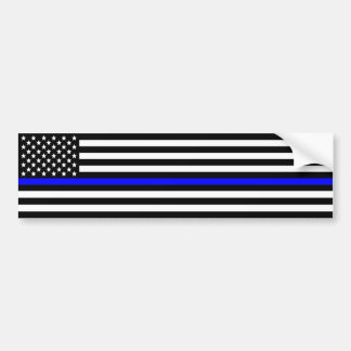 Dünne blaue Linie Polizei stützen sich Autoaufkleber