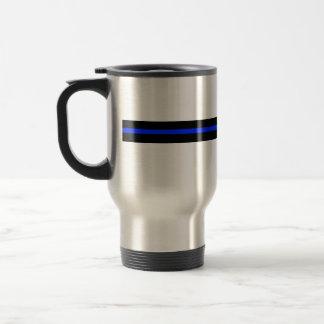 Dünne blaue Linie rostfreier Stahl-Reise-Tasse Reisebecher