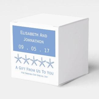 Dünne blaue Seestern-Hochzeit Geschenkschachteln