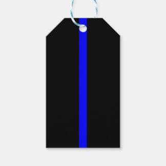 Dünne Blue Line-Erinnerung auf a Geschenkanhänger