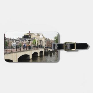 Dünne Brücke, Amsterdam, Holland Kofferanhänger
