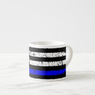 Dünne Linie amerikanische Flagge - Espresso-Tasse Espressotasse