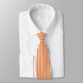 Dünne orange weiße vertikale Streifen-Krawatte Krawatte