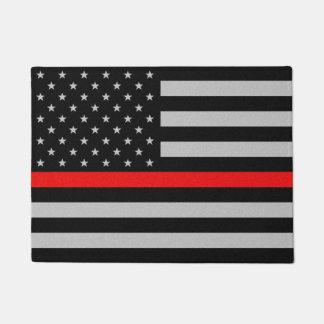 Dünne rote Linie Flagge Türmatte
