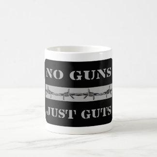 DÜNNE SILBERNE LINIE keine Gewehr-gerade Kaffeetasse