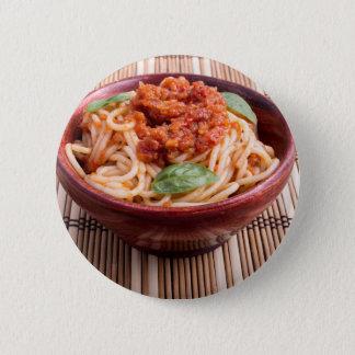 Dünne Spaghettis mit Tomate finden und Runder Button 5,1 Cm
