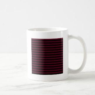 Dünne Streifen - schwarz und dunkles Scharlachrot Kaffeetasse